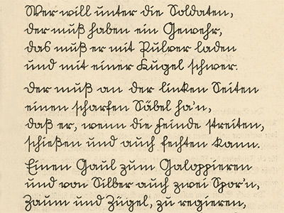 Text in Sütterlin